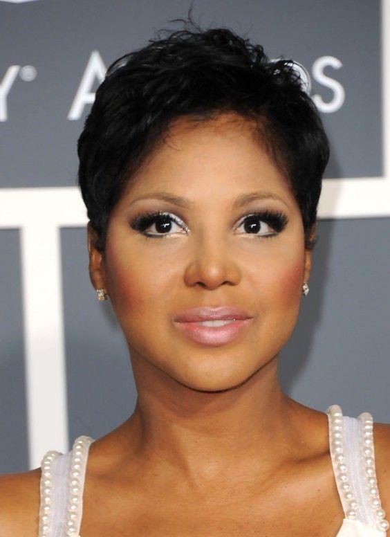 Short Haircut for Women: Stylish Pixie Cut in Black - Toni Braxton's ...