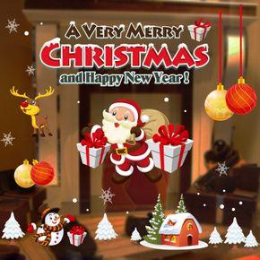 [Special] каждый день, рождественские украшения окна покупок наклейки снежинки электростатические стикеры стеклянные двери рождественские наклейки - глобальная станция Taobao