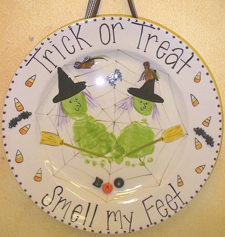 Halloween Plate...trick or treat, smell my feet
