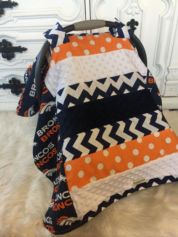 Car seat cover Denver Broncos  Car seat cover  by CoveredNLove1