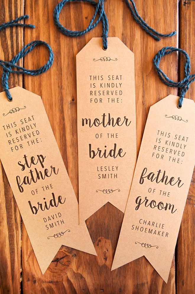 Reserved Signs For Chairs Template Heavy Duty Recliner Lift Make Your Own Wedding Ceremony Chair I Do Pinterest And