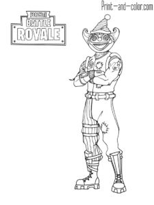 Fortnite Battle Royale Coloring Page Nite Nite Skin Outfit