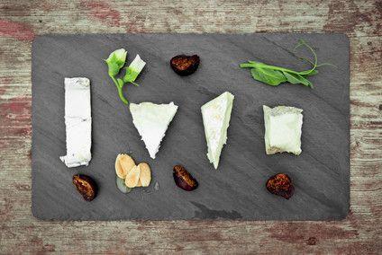 Slate Cheese Board from Brooklyn Slate Company featuring... Humboldt Fog!