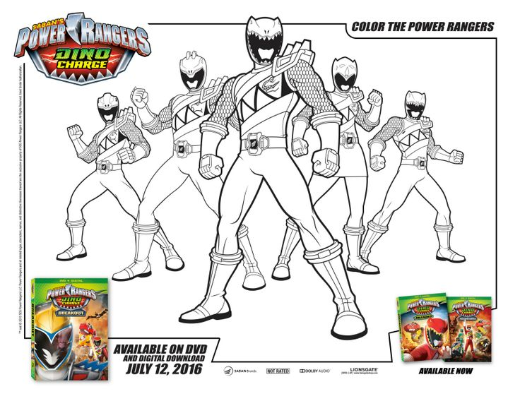 Power Rangers Dino Charge Coloring Page Mais