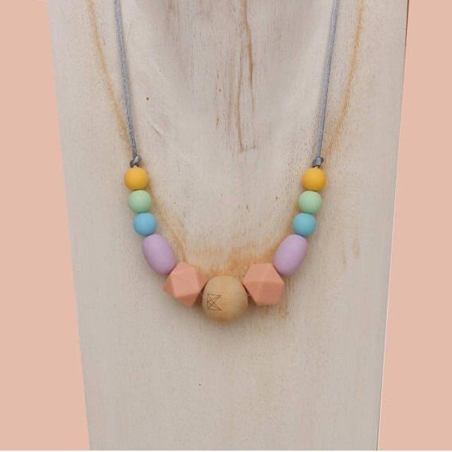 New range of kids silicone bpa free jewellery .. check it out at Marley and Moo .. gorgeous pastel colour selection . The perfect Christmas present for your little munchkin ❤️ a safer alternative to regular jewellery