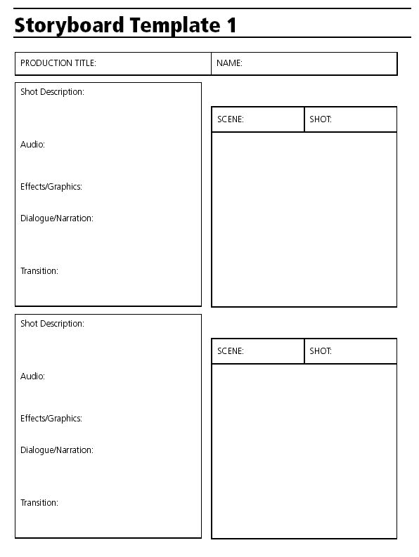 Simple Storyboard Outline Sheet  Animation