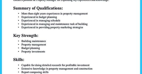 Writing A Great Assistant Property Manager Resume  Share