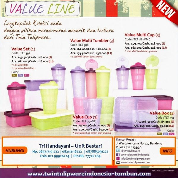 "New ""Value Line"" #Tulipware | Value Box, Value Set, Value Cup, Value Multi Cup, Value Multi Tumbler"