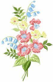 bouquet free machine embroidery design. Machine embroidery design. www.embroideres.com