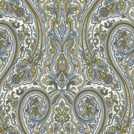 EijffingerAtlantic behang Afmetingen: 8,2M lang en 68,5CM breed Artikelnummer: 343079 Patroon: 52,1CM Kleur: blauw, goud,wit Behangplaksel: Perfax paars Kwaliteit: vinylbehang nautisch behang - maritiem behang