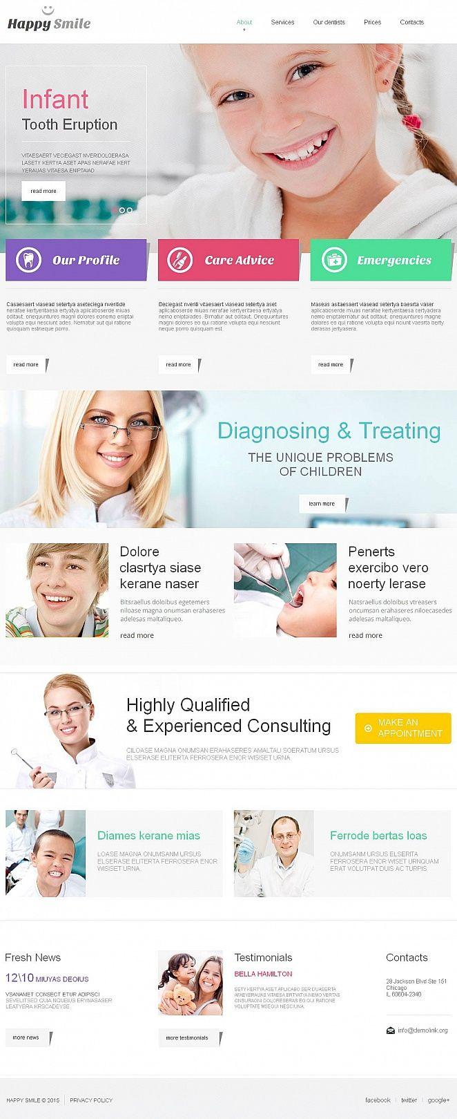 Dentistry Medical #MotoCMS #HTML5 #ZendOptimizer Template #52618
