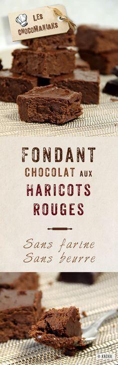 Fondant au Chocolat & Haricots Rouges #sansgluten #sansbeurre // Blog  www.chocomaniaks.fr - ©KAOKA