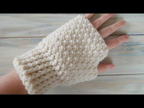 ▶ How To - Crochet Ladies Fingerless Mitten Gloves - YouTube
