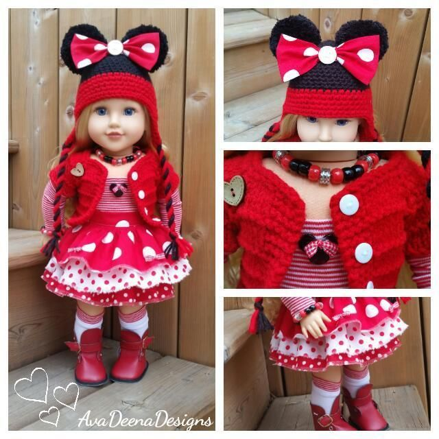 Complete Minnie Mouse outfit clothes for 18 inch doll - american girl doll | eBay