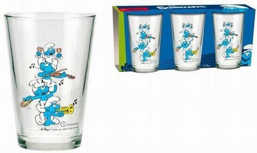 BRUMLA.CZ – Značkový dětský a dospělý second hand a outlet, použité oděvy pro děti a dospělé - Nové - 3x sklenička se Šmouly