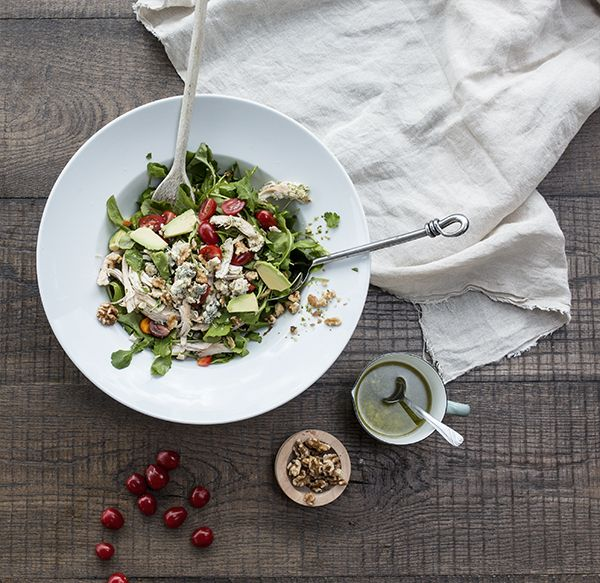 Cherry Tomato, Chicken & Blue Cheese Salad. Light lunch or substantial side? Add more or less chicken depending on your appetite. Make this recipe. 7 mins serves 4.