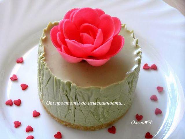 От простоты до изысканности...: Мятный мини-чизкейк или Пирожное на двоих...