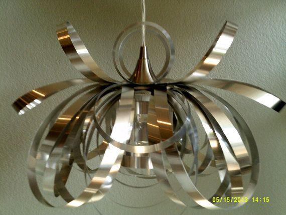 Modern elegant brushed aluminum pendant light от SuesModernDesigns, $125.00