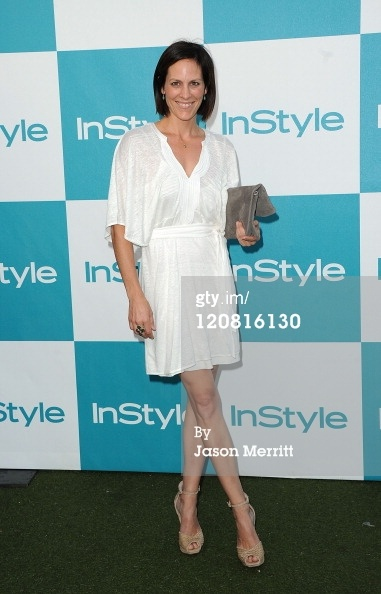 Annabeth Gish Arrives wears Anabel- Washed Suede Taupe at the 10Th Annual Instyle Summer Soirée on 8/10/11