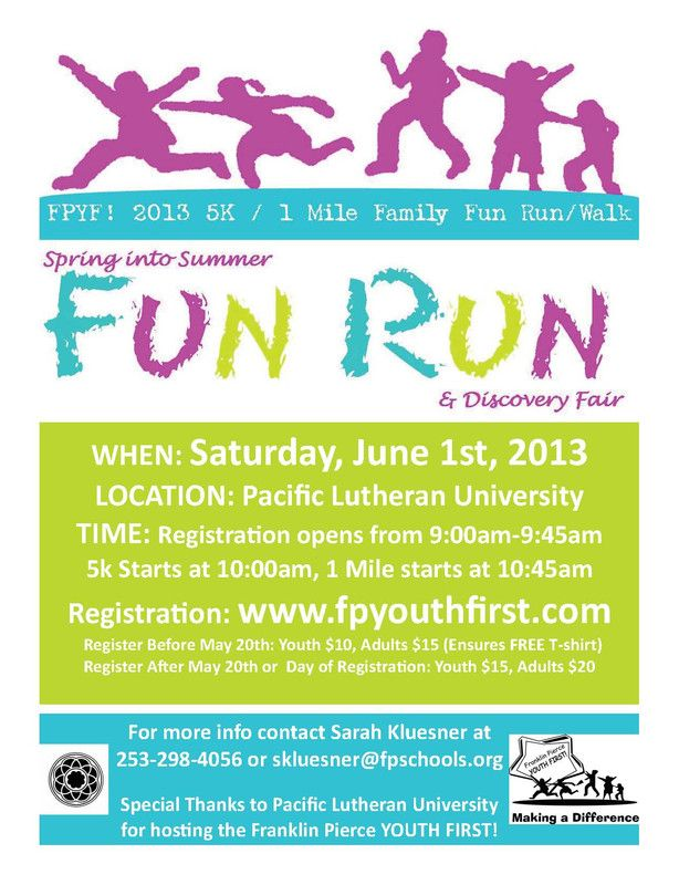 13 best 5k images on pinterest flyers leaflets and ruffles tacoma wa franklin pierce youth first invites you to participate in the 2013 5k stopboris Image collections