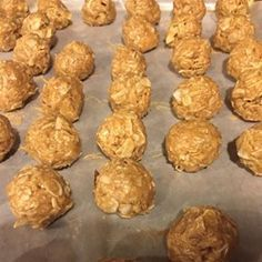 Daniel Fast Peanut Butter Balls - Allrecipes.com - COULD MAKE THESE WITH ALMOND BUTTER FOR PALEO
