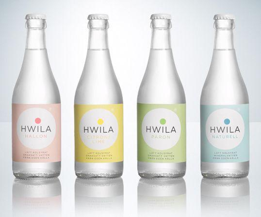 Hwila mineral water packaging by Neumeister by genesis duncan