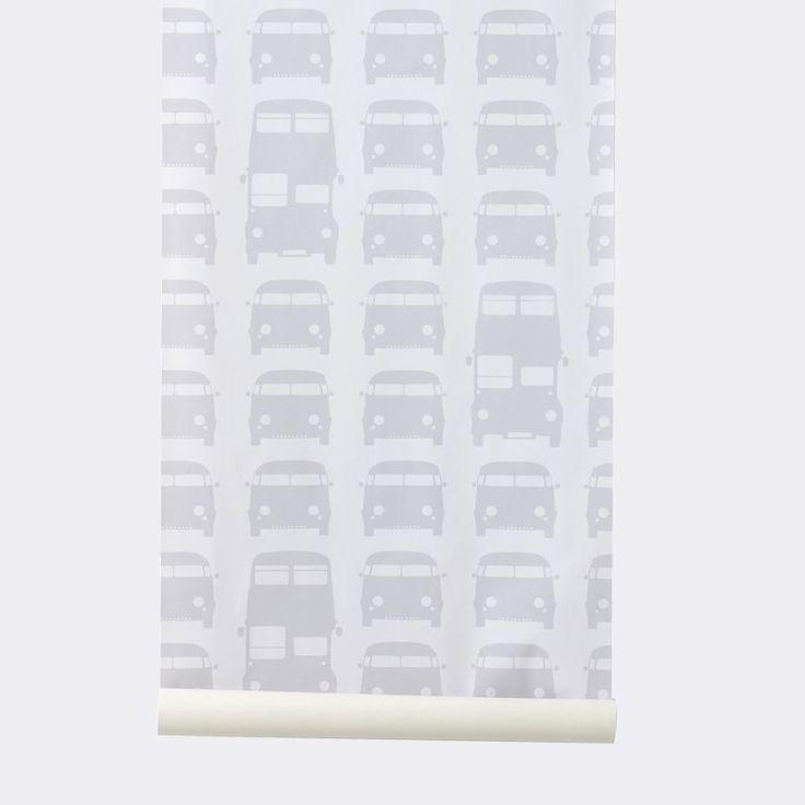 Ferm Living behang Rush Hour grijs   Verwende Apen
