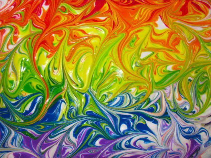 Een regenboog met scheerschuim schilderen pinterest for Shaving cream paint