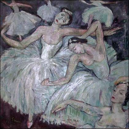'Ballet Dancers' (1943) by Irma Stern