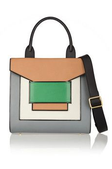 Pierre Hardy Color-block leather tote | THE OUTNET