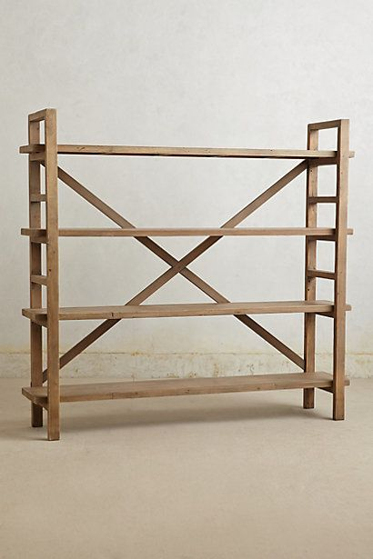 Rustic reclaimed bookcase.  |   Anthropologie