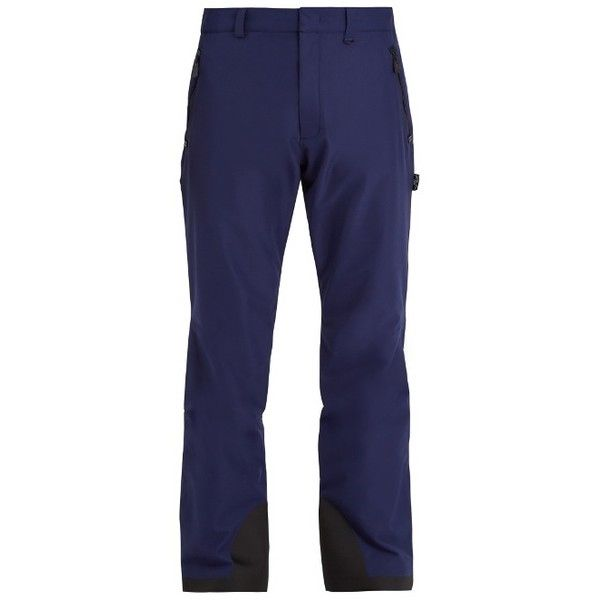 Moncler Grenoble Contrast-panel technical ski trousers ($910) ❤ liked on Polyvore featuring men's fashion, men's clothing, men's pants, men's casual pants, navy, mens lightweight cargo pants, old navy mens pants, mens zipper pants, mens ski pants and mens zip off pants