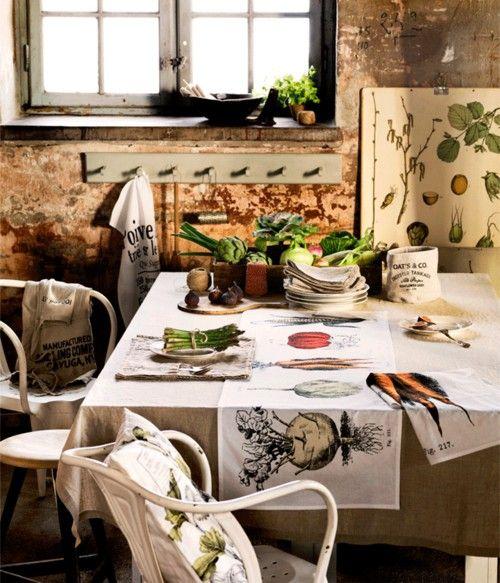 ..: Kitchens, Decor, Dining Room, Ideas, Interiors, Interior Styling, Botanical, Garden, Rustic Kitchen