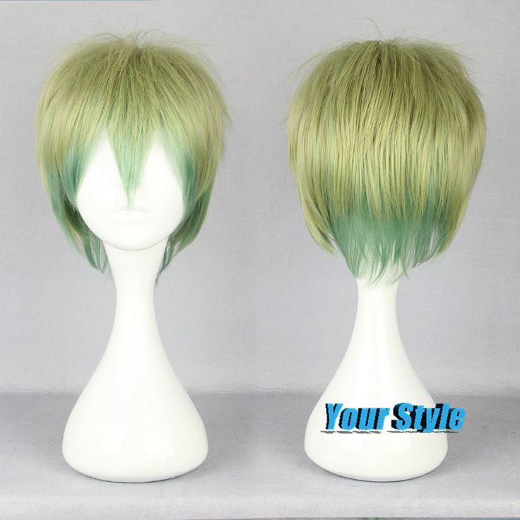 32cm Cute Short Pixie Boy Cut Anime Wigs Cheap Good Quality Wigs Haircuts Short Hair Layered Short Hairstyles Light Green Ombre