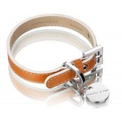 Collar de cuero Saffiano del característico color de Hermes!
