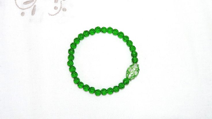 Excited to share the latest addition to my #etsy shop: Stretchy Beaded Bracelet, Lampwork Focal, Green Glass Beads, Plus Size, Jewellery Elastic, Easy to Wear, Mobility Issues, Handmade, OOAK