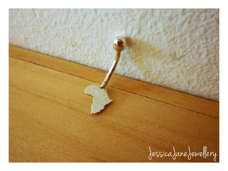 Handmade Africa Belly Ring - Silver