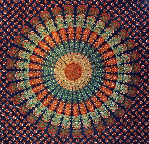 Mandala Hippie Hippy Tapestry Indian Wall Hanging Throw
