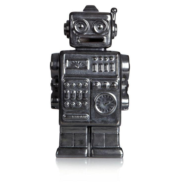 Ben de Lisi Home Dark grey ceramic robot money box- at Debenhams.com