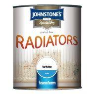 Johnstone's Paint For Radiators - White Satin 750ml