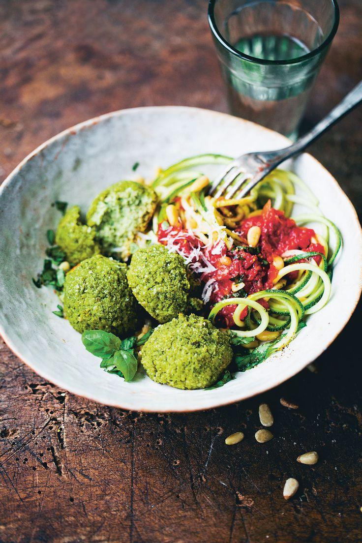 Popeye polpette (spinach quinoa 'meatballs')