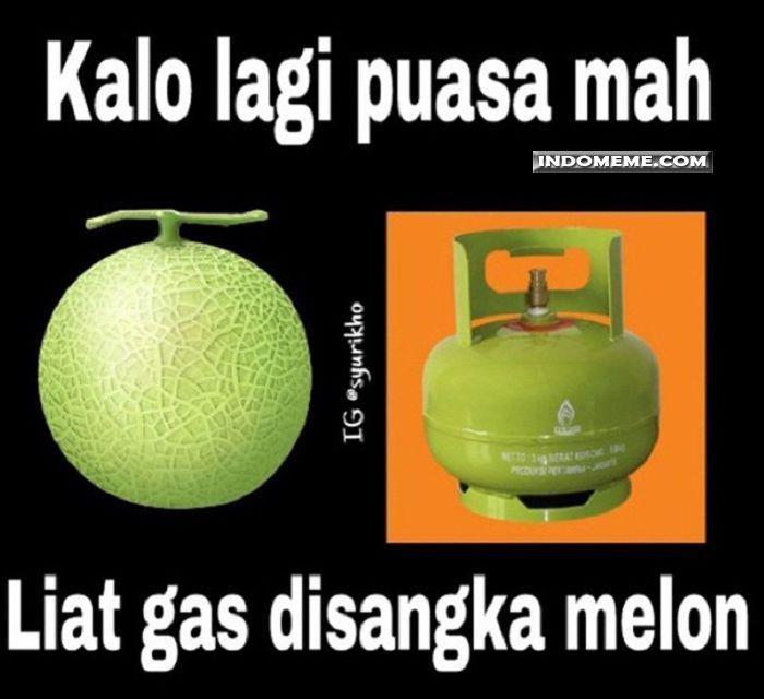Kalo lagi puasa liat gas disangka melon - #Meme - http://www.indomeme.com/meme/kalo-lagi-puasa-liat-gas-disangka-melon/