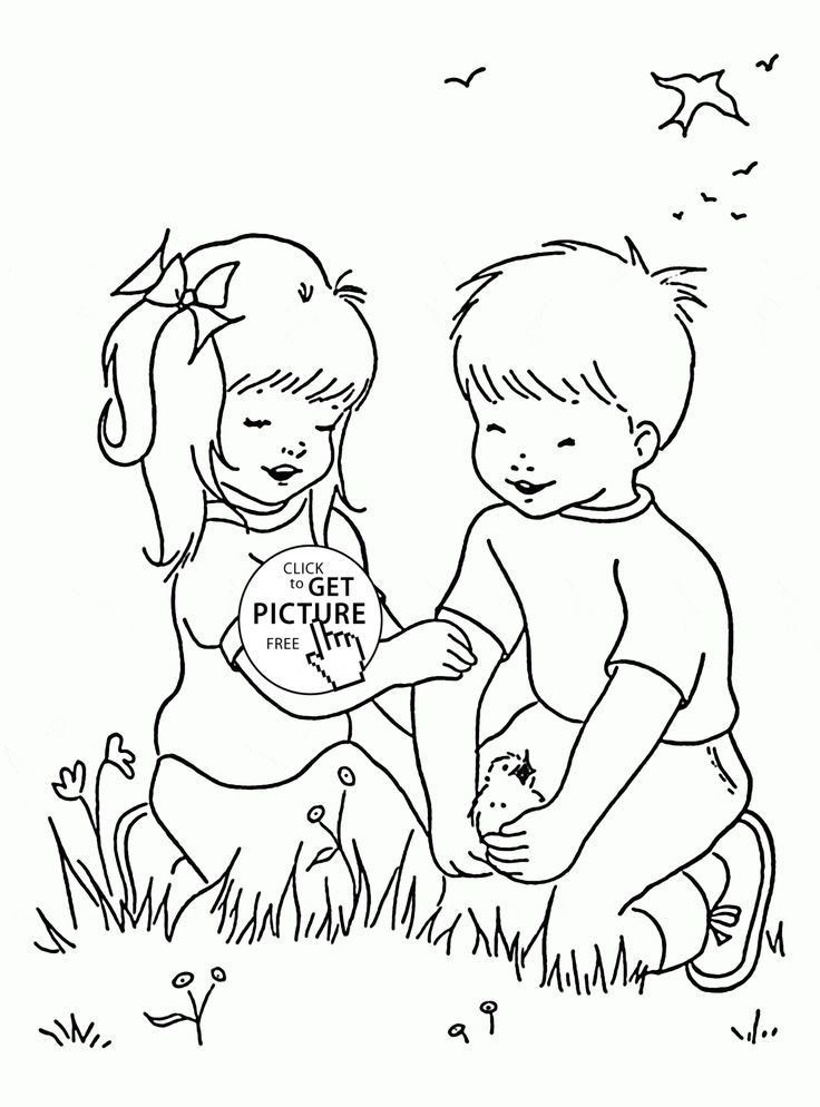 Happy Spring Day for kids coloring page for kids, seasons ...