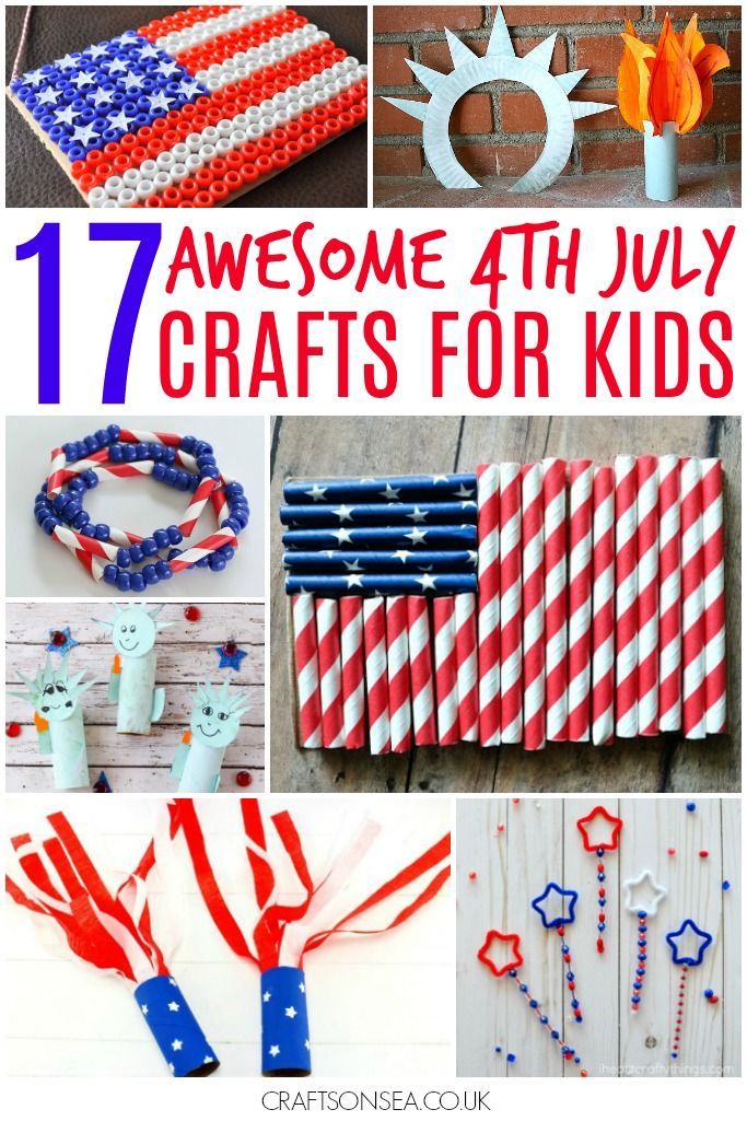 Easy 4th July crafts for kids, cute and pretty red white and blue ideas perfect for celebrating with. The most fun American patriotic crafts!