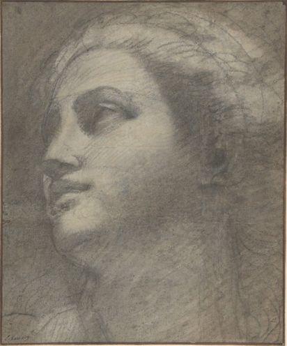 Annibale Carracci (1560-1609), Testa di donna, 1590/1600, carboncino evidenziato con gesso bianco. NYC, Met.