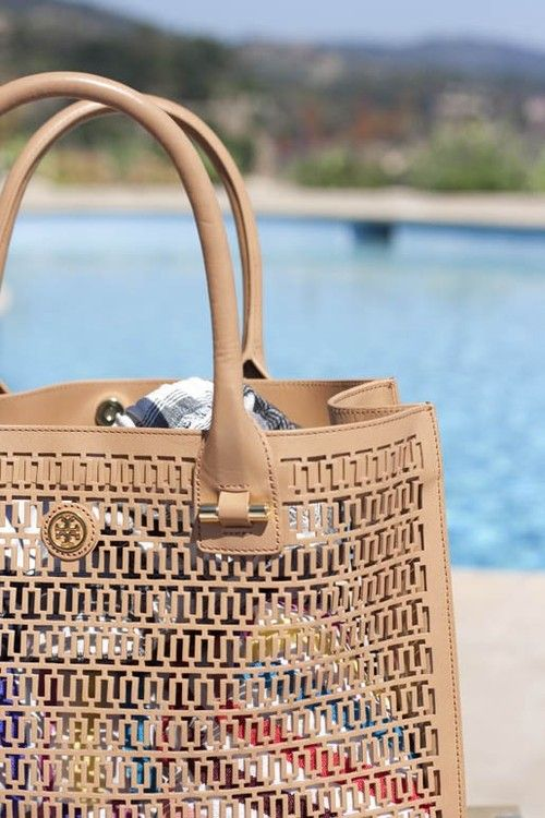 tory burch beach bag.