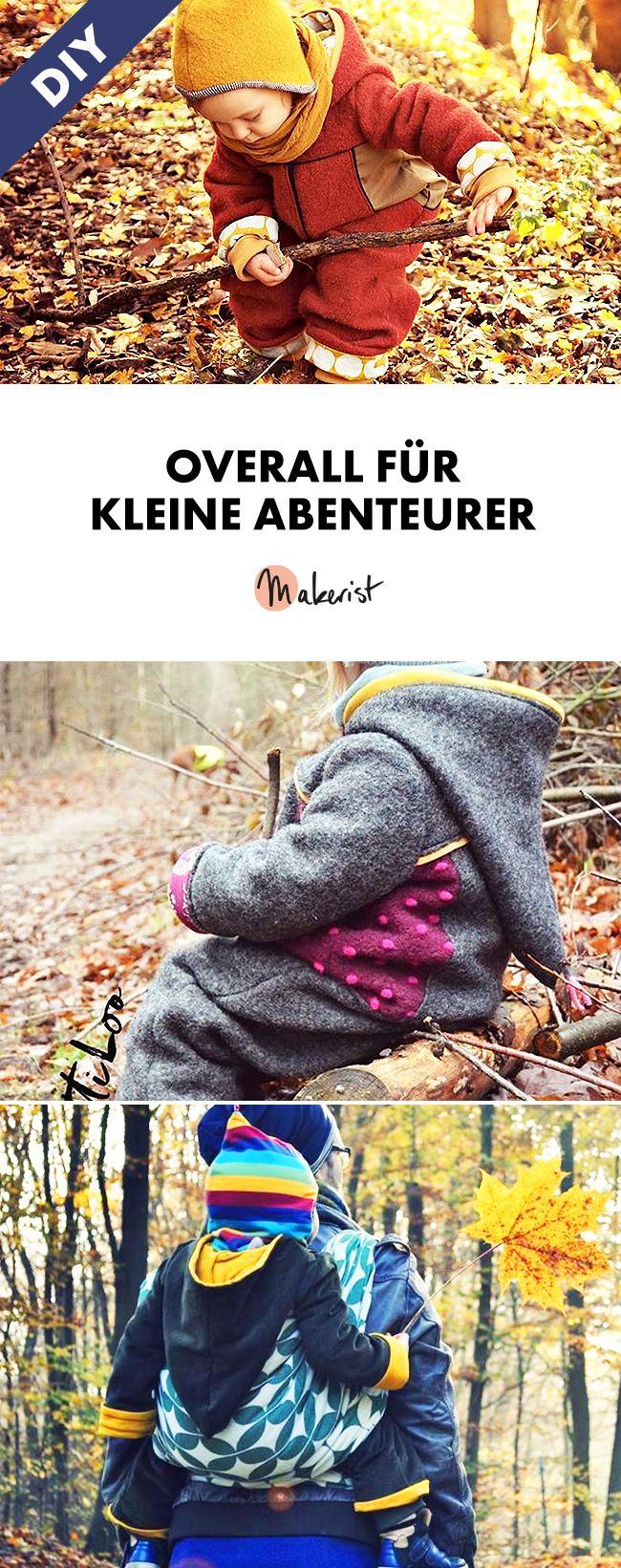 Gemütlich warmer Overall für Kinder - Nähanleitung und Schnittmuster via Makerist.de