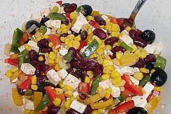 Rote Bohnen – Schafskäse – Salat   – Vorspeisen & Hauptspeisen Pasta  Reis  Fleisch  Grillen Salate