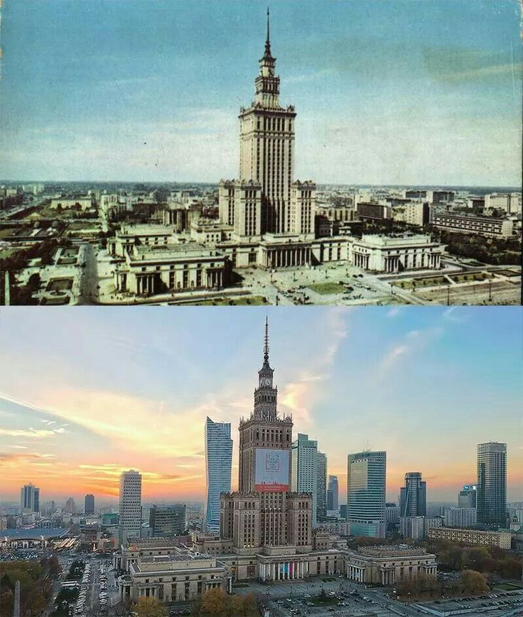 Palace of Culture and Science 1968/2014 #pkin #warsaw via:maciejmargas.pl