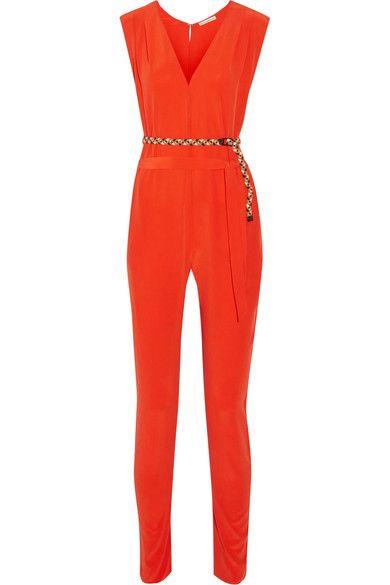 Eres - Véronique Leroy Georges Silk-crepe Jumpsuit - Papaya -
